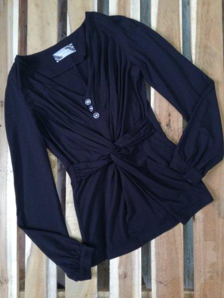 Дамска блуза с ефектни набори
